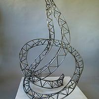 Uplift detail sculpture, steel, handmade