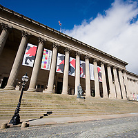 St Georges Hall flying the Biennial banners.