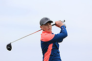 Patrick Keeling (Roganstown) on the 1st tee during Round 2 of the Connacht U16 Boys Amateur Open Championship at Galway Bay Golf Club, Oranmore, Galway on Wednesday 17th April 2019.<br /> Picture:  Thos Caffrey / www.golffile.ie