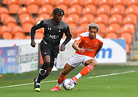 Blackpool's Jordan Lawrence-Gabriel battles with Doncaster Rovers' Taylor Richards<br /> <br /> Photographer Dave Howarth/CameraSport<br /> <br /> The EFL Sky Bet League One - Blackpool v Doncaster Rovers - Tuesday 4th May 2021 - Bloomfield Road - Blackpool<br /> <br /> World Copyright © 2021 CameraSport. All rights reserved. 43 Linden Ave. Countesthorpe. Leicester. England. LE8 5PG - Tel: +44 (0) 116 277 4147 - admin@camerasport.com - www.camerasport.com