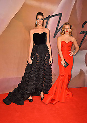 Ana Beatriz Barros and Charlotte Dellal attending The Fashion Awards 2016 at the Royal Albert Hall, London.
