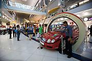 Duty Free shopping mall at Dubai International Airport. Bentley luxury car lottery.
