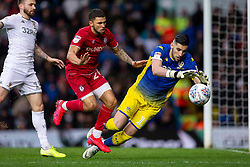 Francisco Casilla of Leeds United saves from Nahki Wells of Bristol City - Mandatory by-line: Daniel Chesterton/JMP - 15/02/2020 - FOOTBALL - Elland Road - Leeds, England - Leeds United v Bristol City - Sky Bet Championship
