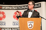 Master of Ceremonies Dave Sharpe during the National League Gala Awards at Celtic Manor Resort, Newport, United Kingdom on 8 June 2019.
