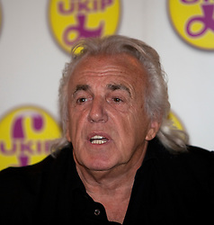 © Licensed to London News Pictures. 23/04/2012. London, U.K..UKIP Press Conference with Richard, Earl of Bradford and Mr Peter Stringfellow. Following his announcement that after 32 years of supporting the Conservative Party, Peter Stringfellow is supporting Ukip candidate Richard Bradford in the Hyde Park by election. The press conference was held at Porters Restaurant owned by Richard the Earl of Bradford...Photo credit : Rich Bowen/LNP