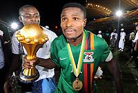 Fotball , 12. februar 2012 finale Afrika-mesterskapet<br /> Zambia - Elfenbenskysten<br /> Christopher Katongo - Zambie Football : Zambie / Cote d Ivoire - Finale - Coupe d Afrique des Nations<br /> <br /> Norway only