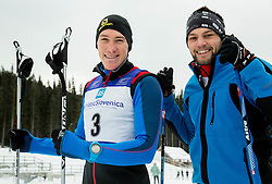 Luka Bozic and Saso Taljat of Slovenian Kayak Canoe National Team at Winter training of Cross country and Biathlon, on January 7, 2015 in Rudno polje, Pokljuka, Slovenia.  Photo by Vid Ponikvar / Sportida