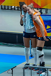 20-10-2018 JPN: Final World Championship Volleyball Women day 18, Yokohama<br /> China - Netherlands 3-0 / Myrthe Schoot #9 of Netherlands, Maret Balkestein-Grothues #6 of Netherlands
