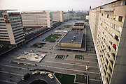 Dresden, East Germany. An example of severe Soviet style architecture. 1983.