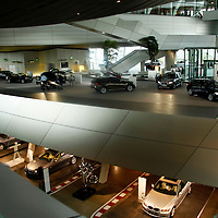 Europe; Germany, Munich. The BMW Welt Museum and Plant.