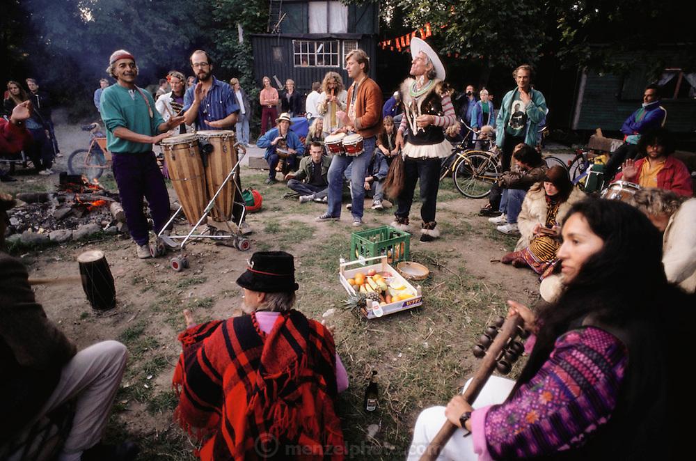 Christiania: a counter-culture commune-style community near the harbor in Copenhagen. Denmark.