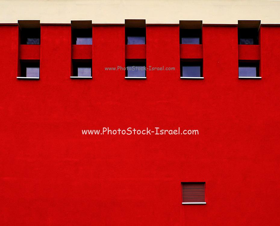 Vivid red wall backdrop