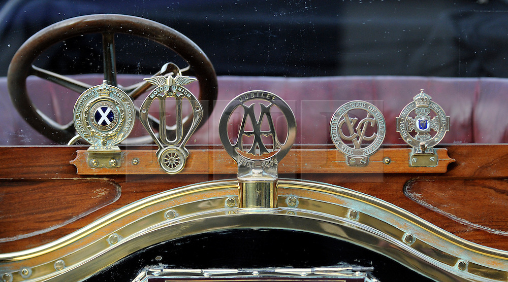 ©London News pictures...07/11/2010. On a freezing morning in Crawley, Pre 1905 four-wheeled cars, tricars and motor tricycles take part in the 77th London to Brighton Veteran Car Run (LBVCR). Representing 24 nations, 572 entries were received for this year's LBVCR, the world's longest running motoring event