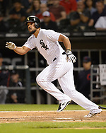 CHICAGO - SEPTEMBER 24:  Jose Abreu #79 of the Chicago White Sox bats against the Cleveland Indians on September 24, 2019 at Guaranteed Rate Field in Chicago, Illinois.  (Photo by Ron Vesely)  Subject:   Jose Abreu