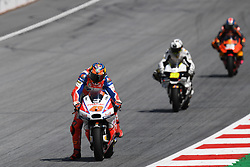August 12, 2018 - Spielberg, Austria - 43 Australian driver Jack Miller of Team Octo Pramac Racing  19 Spanish driver Alvaro Bautista of Team Aspar MotoGP Team race during of Austrian MotoGP grand prix in Red Bull Ring in Spielberg, Austria, on August 12, 2018. (Credit Image: © Andrea Diodato/NurPhoto via ZUMA Press)