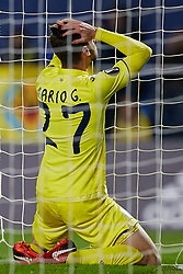 December 7, 2017 - Vila-Real, Castellon, Spain - Mario Gonzalez of Villarreal CF reacts after missing a chance during the UEFA Europa League group A match between Villarreal CF and Maccabi Tel Aviv FC at Estadio de la Ceramica on December 7, 2017 in Vila-real, Spain  (Credit Image: © David Aliaga/NurPhoto via ZUMA Press)