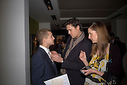TY WOOD, JACK MACDONALD AND AMY WRIGHT, Ideas And Idols - private view of work by Paul Karslake.<br />Scream, 34 Bruton Street, London, W1, 6.30-8.30pm<br />21 February 2008.  *** Local Caption *** -DO NOT ARCHIVE-© Copyright Photograph by Dafydd Jones. 248 Clapham Rd. London SW9 0PZ. Tel 0207 820 0771. www.dafjones.com.
