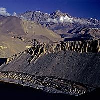 NEPAL, HIMALAYA. Arid, rainshadowed mountains of Mustang, north of Annapurna massif.