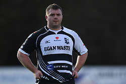 Pontypridds' Huw Dowden<br /> <br /> Photographer Mike Jones/Replay Images<br /> <br /> Principality Premiership Merthyr v Pontypridd - Saturday 17th February 2018 - The Wern Merthyr Tydfil<br /> <br /> World Copyright © Replay Images . All rights reserved. info@replayimages.co.uk - http://replayimages.co.uk