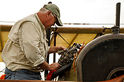 Oiling the valves on the Curtiss JN-4D at the 2017 Hood River Fly-In.