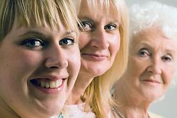 Three generations of women,