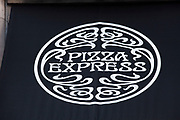 Sign for food chain Pizza Express.