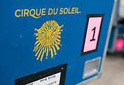 """Large crates of equipment for """"Cirque du Soleil: CRYSTAL"""" are seen backstage at the Alliant Energy Center in Madison, WI on Wednesday, May 1, 2019."""