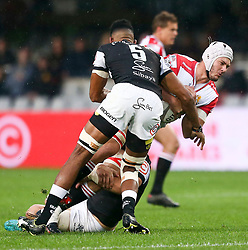 Durban. 20918. Len Massyn of the Xerox Lions during the Currie Cup match between Cell C Sharks and Xerox Golden Lions XV at Jonsson Kings Park Stadium in Durban, South Africa. Picture Leon Lestrade. African News Agency. ( ANA ).