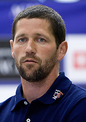 Matjaz Silic at press conference of volleyball club ACH Volley before new season 2009/2010,  on September 28, 2009, in Ljubljana, Slovenia.  (Photo by Vid Ponikvar / Sportida)