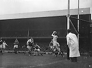 Galway goalie S. Smyth saves ball during the All Ireland Minor Gaelic Football Final Cork v. Galway in Croke Park on the 26th September 1960.