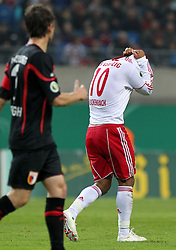 25.10.2011, Red Bull Arena, Meuselwitz, GER, DFB 2. Pokalrunde, ZFC Meuselwitz  vs Hertha BSC Berlin, im Bild.Thiago Rockenbach Da Silva (Leipzig) enttäuscht nach vergebener Torchance .// during the Pokal fight first Round from GER, RB Leipzig vs FC Augsburg on 2011/10/25, Red Bull Arena, Leipzig, Germany..EXPA Pictures © 2011, PhotoCredit: EXPA/ nph/  Hessland       ****** out of GER / CRO  / BEL ******