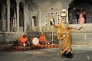 Traditional Rajasthani dancer Jodhpur, Rajasthan, India