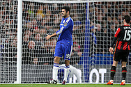 Diego Costa of Chelsea reacts after a missed chance to score. Barclays Premier league match, Chelsea v AFC Bournemouth at Stamford Bridge in London on Saturday 5th December 2015.<br /> pic by John Patrick Fletcher, Andrew Orchard sports photography.