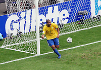 Photo: Chris Ratcliffe.<br /> Brazil v Ghana. Round 2, FIFA World Cup 2006. 27/06/2006.<br /> Adriano celebrates scoring the second goal.