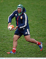 10 June 2013; Mako Vunipola, British & Irish Lions, during the captain's run ahead of their game against Combined Country on Tuesday. British & Irish Lions Tour 2013, Captain's Run, Number 2 Sports Ground, Newcastle, NSW, Australia. Picture credit: Stephen McCarthy / SPORTSFILE