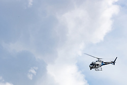 Helicopter during 5th Stage of 26th Tour of Slovenia 2019 cycling race between Trebnje and Novo mesto (167,5 km), on June 23, 2019 in Slovenia. Photo by Matic Klansek Velej / Sportida