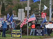 Trump supporters protest what they consider fraudulent results at a Stop the steal rally in support of President Trump.