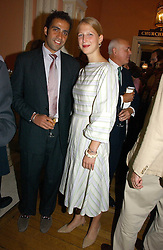 LADY GABRIELLA WINDSOR daughter of Prince & Princess Michael of Kent and her boyfriend AATISH TASEER at a party to celebrate the publication of 'A History of The English Speaking Peoples Since 1900' hosted by Andrew Roberts and Susan Gilchrist at the English-Speaking Union, 37 Charles Street, London W1 on 11th September 2006.<br />