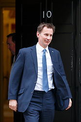 © Licensed to London News Pictures. 14/03/2017. London, UK. Health Secretary JEREMY HUNT leaves Downing Street after a cabinet meeting on Tuesday, 14 March 2017. Photo credit: Tolga Akmen/LNP