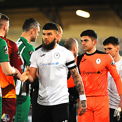 TELFORD COPYRIGHT MIKE SHERIDAN Shane Sutton of Telford during the Vanarama Conference North fixture between AFC Telford United and Blyth Spartans at The New Bucks Head on Tuesday, January 28, 2020.<br /> <br /> Picture credit: Mike Sheridan/Ultrapress<br /> <br /> MS201920-043