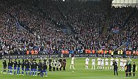 Pre game memorial<br /> <br /> Photographer Rachel Holborn/CameraSport<br /> <br /> The Premier League - Saturday 10th November 2018 - Leicester City v Burnley - King Power Stadium - Leicester<br /> <br /> World Copyright © 2018 CameraSport. All rights reserved. 43 Linden Ave. Countesthorpe. Leicester. England. LE8 5PG - Tel: +44 (0) 116 277 4147 - admin@camerasport.com - www.camerasport.com
