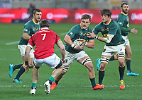 Rugby Union - 2021 British & Irish Lions Tour of South Africa - Second Test: South Africa vs British & Irish Lions<br /> <br /> Jasper Wiese attacks the line, at Cape Town Stadium, Cape Town.<br /> <br /> COLORSPORT / JOHAN ORTON