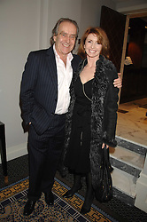 GERALD SCARFE and his wife actress JANE ASHER at the Veuve Clicquot Business Woman Award held at The Berkeley Hotel, London on 8th April 2008.<br />