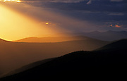 The Purcell Mountains at sunset from Mount Baldy. Kootenai National Forest, northwest Montana