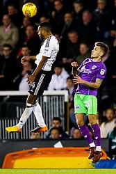 Denis Odoi of Fulham is challenged by Jamie Paterson of Bristol City - Rogan/JMP - 31/10/2017 - Craven Cottage - London, England - Fulham FC v Bristol City - Sky Bet Championship.