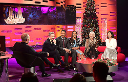 (left to right) Graham Norton, Martin Freeman, Will Smith, Naomie Harris, Dame Helen Mirren and Katie Melua appearing on the Graham Norton Show filmed at the London Studios. London, which will be transmitted on BBC One on December 23.