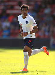 England U17's Xavier Amaechi during the UEFA European U17 Championship, Group A match at Banks's Stadium, Walsall. PRESS ASSOCIATION Photo. Picture date: Monday May 7, 2018. See PA story SOCCER England U17. Photo credit should read: Mike Egerton/PA Wire. RESTRICTIONS: Editorial use only. No commercial use.