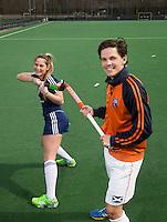 """Bloemendaal - Wouter Jolie en Eline Florie voor """"Haak je aan""""  campagne. FOTO KOEN SUYK"""