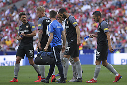 May 12, 2019 - Madrid, Madrid, Spain - Gonalons of Sevilla  injured during La Liga Spanish championship, , football match between Atletico de Madrid and Sevilla, May 12th, in Wanda Metropolitano Stadium in Madrid, Spain. (Credit Image: © AFP7 via ZUMA Wire)