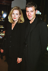 Actress NATASHA LITTLE and MR TOM CROXON, at a party in London on 18th May 1999.MSD 49